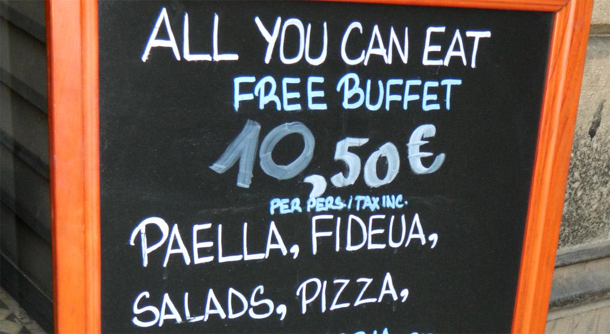 Terra Blava - Buffet Libre