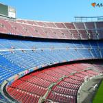 Stadion Camp Nou - widok na trybuny
