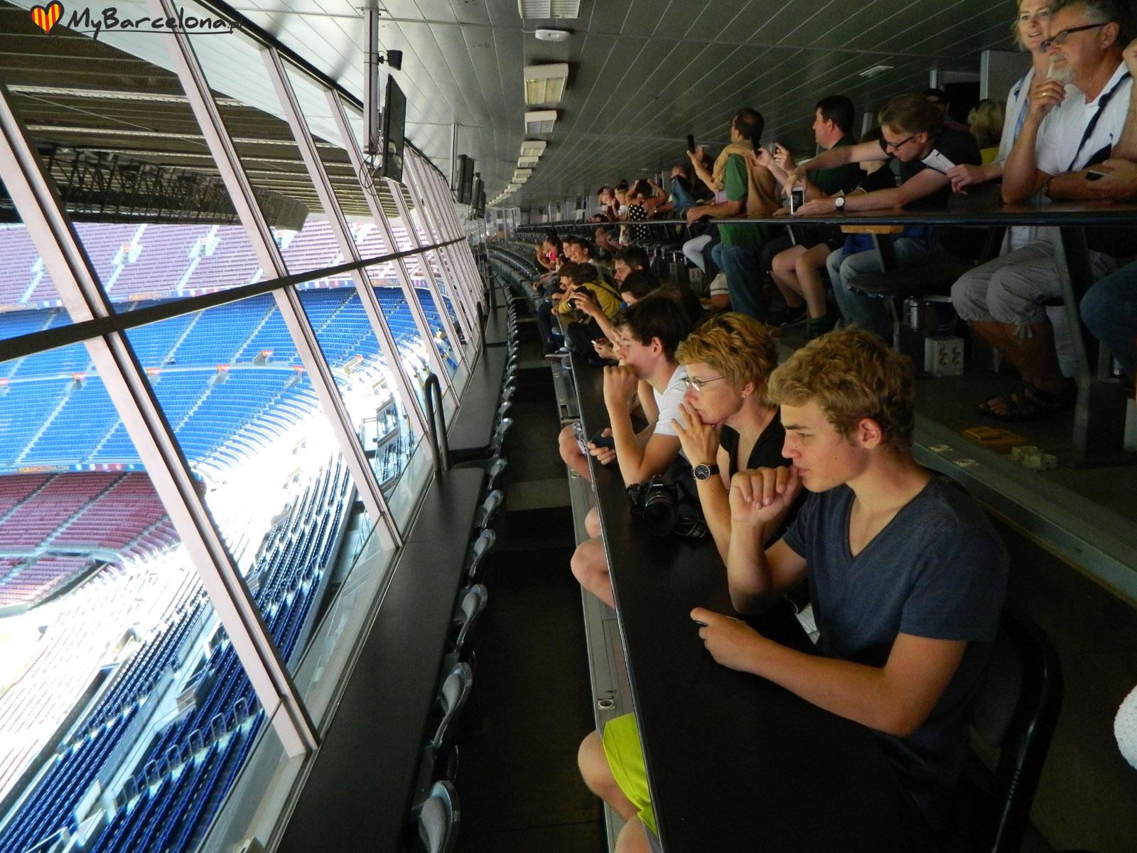 Camp Nou - gniazdo komentatorskie