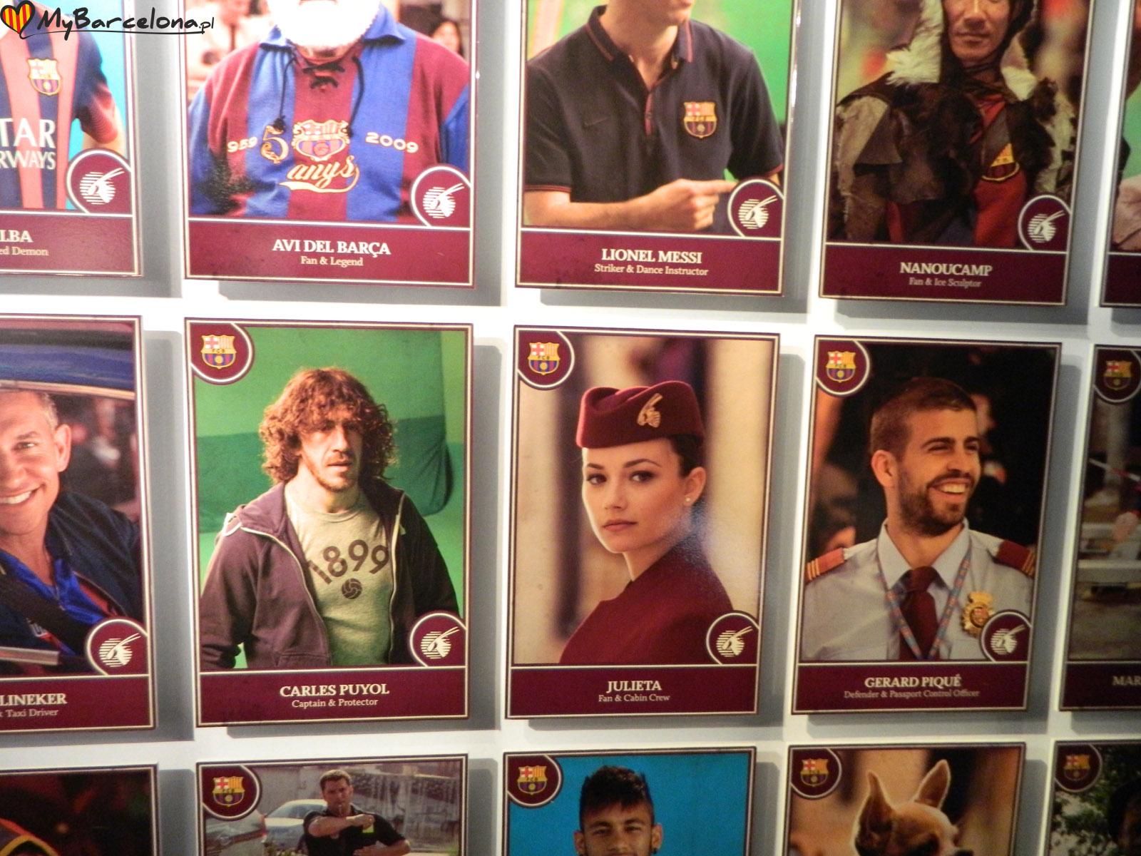 Camp Nou - zdjęcia piłkarzy