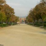 Park de la Ciutadella - widok na Arc de Triomf