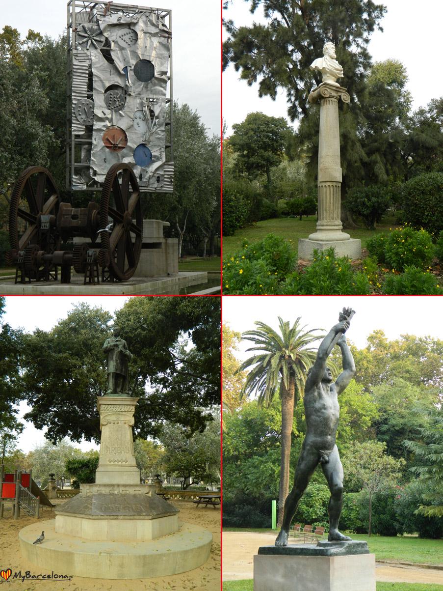 rzeźby w park de la ciutadella