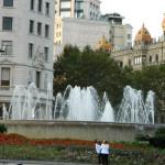 Fontanna na Placa de Catalunya