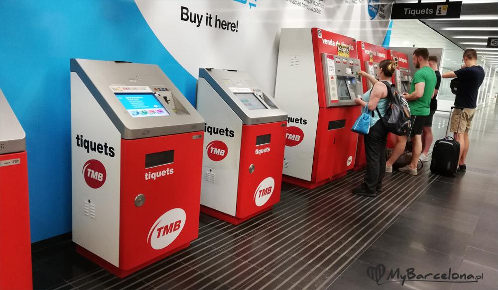 Automaty na stacji metra El Prat