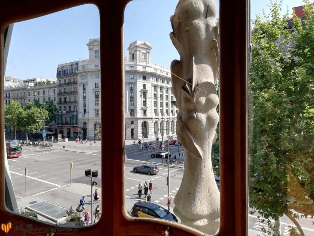 Casa Batllo - widok z okna