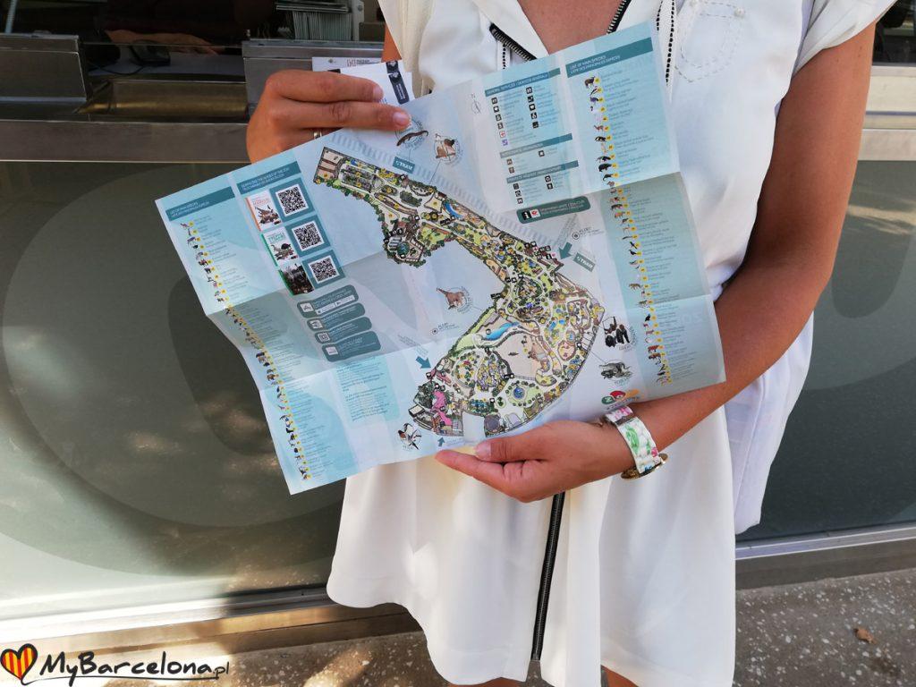 Mapa Zoo Barcelona